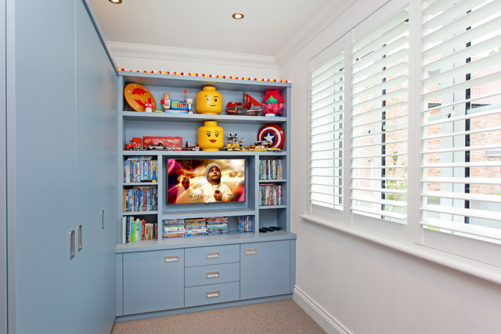 Children's playroom cupboards in Fulham
