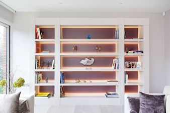 Display shelving in Camden