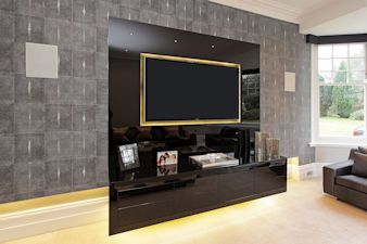 Wall hung Cabinet & TV in Barnet